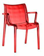 Прозрачен дизайнерски стол червен