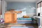 Класическа детска стая с двуетажно легло по индивидуален проект София