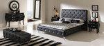Стилно тапицирано легло с естествена кожа