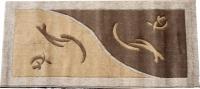 Машинен килим Мода релеф в бежово-кафяв цвят