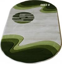Машинен килим Мода релеф елипса в зелено