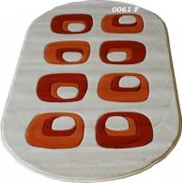 Машинни килими в сиво и оранжево 50/80см