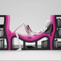 Нестандартни рафтове за книги по поръчка