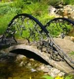 градински мост от ковано желязо по поръчка 4031-3171