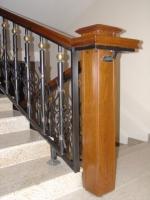 перило за стълбища от ковано желязо