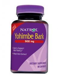 Natrol Yohimbe Bark 500 mg - 90 капсули