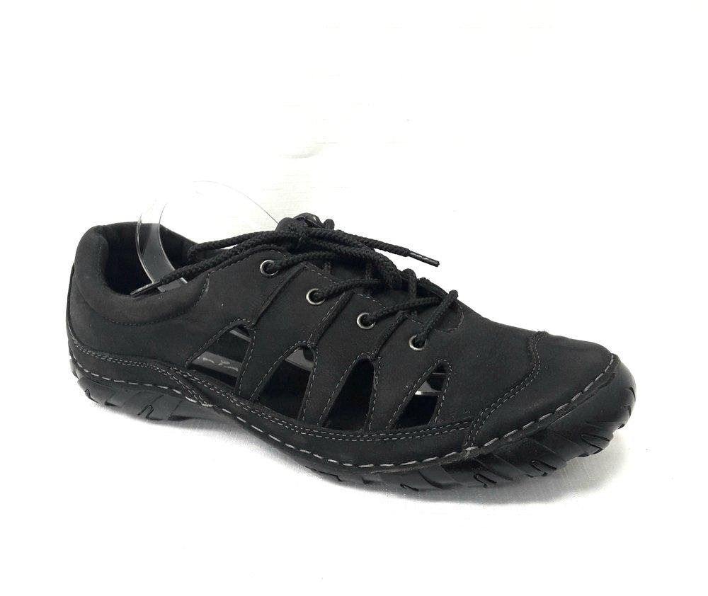 Черни мъжки сандали от естествена кожа.