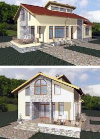 Луксозни едноетажни сглобяеми къщи 108 м2