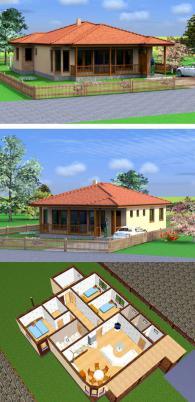 Дървени сглобяеми къщи 142 м2 по поръчка