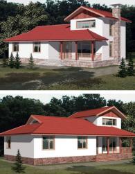 Двуетажна къща 181 м2 по индивидуална поръчка