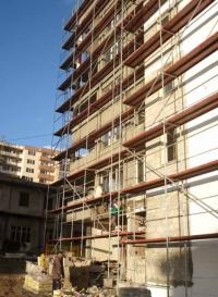Изграждане на стена от полистирол бетон