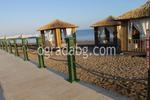 дървена ограда за плаж по поръчка