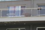 изработка на парапети за тераси от инокс и кафяво стъкло