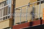 парапети за тераси от инокс и мат стъкло