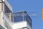 терасни парапети от инокс и сиво стъкло
