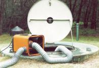 Система за освежаване на въздуха в ями и шахти