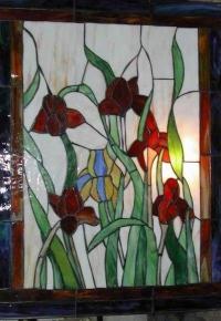 Витраж Пролетни цветя