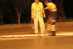 Полагане на пътна хоризонтална маркировка