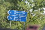 пътни знаци за населени места