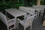 битови маси с две пейки и 1 стол за заведения