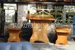 дървена маса за механа и кръчма