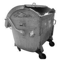 Метална кофа за битови отпадъци тип Бобър