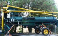 Мобилна машина за почистване на зърно