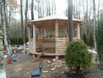 Изработка на дървени беседки за градина