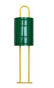 Метален съд за смет с размери 280х360мм