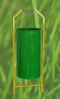 Метален съд за смет с размери 320х460мм