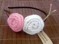 Ръчно плетена диадема - Pink Candy
