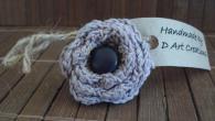 Пръстен, ръчно изработен Purple flower