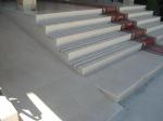 Проект за стълби, облицовани с травертин