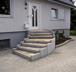 облицоване с гранит на бетонно стълбище