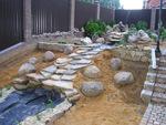 Herstellung von dekorativen Wasserfall