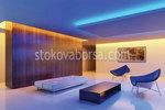 окачен таван от гипсокартон със скрито лед осветление