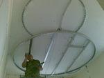 кръгъл окачен таван от гипсокартон по поръчка
