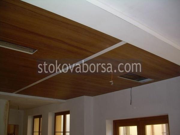 Дървен окачен таван по поръчка