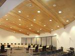 Окачен дървен таван