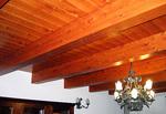Изработка на окачени тавани от дърво