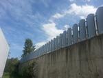 огради от метал на зидана основа