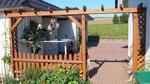 изграждане на дървени перголи за градината по идея на клиента