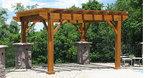 пергола за градината от дървен материал