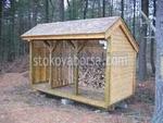 изграждане на навеси за дърва