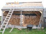 дървени навеси за дървата