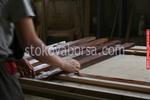 дървени огради от дървени пана боядисани с боя по RAL каталог