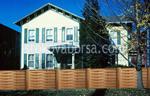 изработка на дървена ограда с пана от чам 200x200см