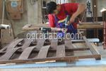 изграждане на дървени огради от чам с дървени пана 200x125см