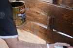 изработка на дървена ограда с пана от чам 200x80см