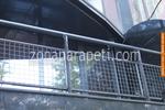 метален парапет от метален профил за тераса